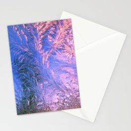 Ice Fractals Stationery Cards