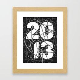 2013 Commemorative Poster Framed Art Print