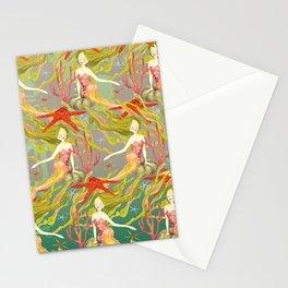 Mermaids Neck Gator Starfish Beautiful Mermaid Stationery Cards