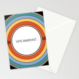 Vote anarchist Stationery Cards