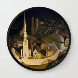 Grant Wood's The Midnight Ride of Paul Revere Wall Clock
