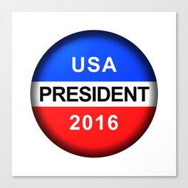 Vote Button President Canvas Print