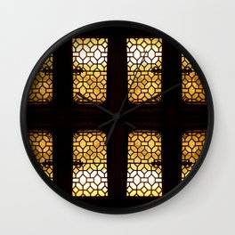 GoldenGlow Wall Clock