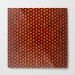 red scales Metal Print