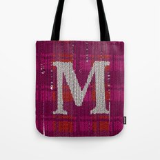 Winter clothes. Letter M. Tote Bag