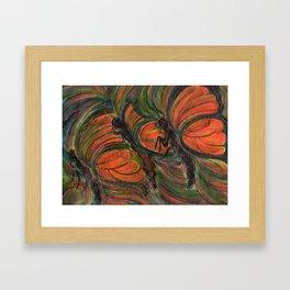 Flying Butterfly Framed Art Print