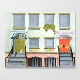 Porch Cats Canvas Print