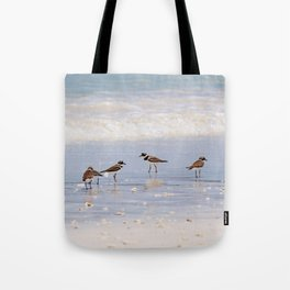 Sandpipers at the Ocean Tote Bag