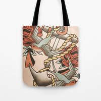 anchor Tote Bags featuring Anchor by Chase Kunz