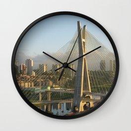Sao Paulo, Brazil - Octavio Frias de Oliveira bridge Wall Clock