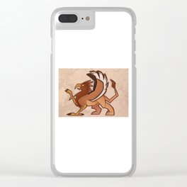 150106 Stylized Gryphon Clear iPhone Case