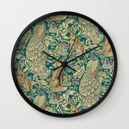 The Forest  William Morris Wall Clock