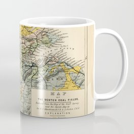 Scotch Coal Fields Vintage Map Coffee Mug