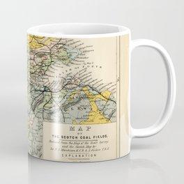 Scotch Coal Fields Vintage Map Coffee Mug