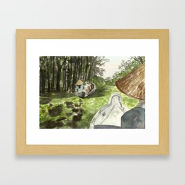 Melaleuca flooded forest, Vietnam Framed Art Print