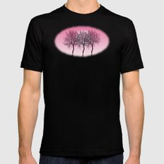 Triplet trees in pink MEDIUM Mens Fitted Tee Black