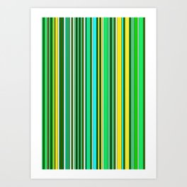GREEN SPRING STRIPES Art Print