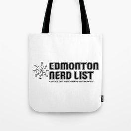 Edmonton Nerd List (B&W on light) Tote Bag