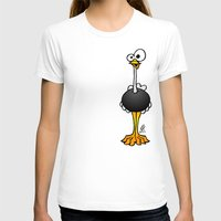 ostrich T-shirts featuring Ostrich by Cardvibes.com - Tekenaartje.nl