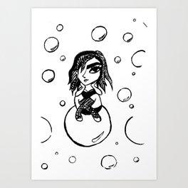 Bubble sunday Art Print