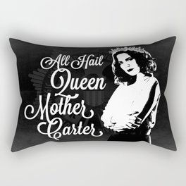 All Hail Queen Mother Carter (White) Rectangular Pillow