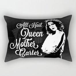 All Hail Queen Mother Carter (White) Rectangular Pillow