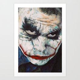 Heath Ledger, The Joker Art Print