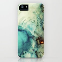Teal Abstract iPhone Case