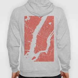 Living Coral New York City NYC Map II Hoody