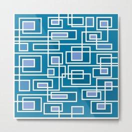 Modern Maze Metal Print