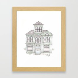 Green Italianate Victorian Framed Art Print