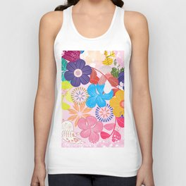 Shabby Chic Romantic Floral Unisex Tank Top