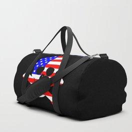 Stars And Stripes Skull and Crossbones Duffle Bag