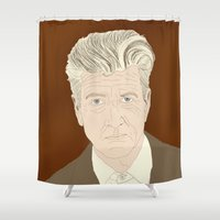 lynch Shower Curtains featuring LYNCH by Itxaso Beistegui Illustrations
