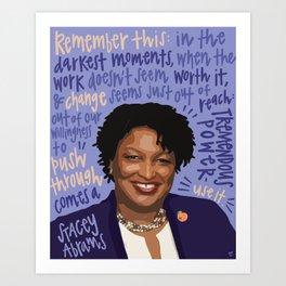 Stacey Abrams. Art Print