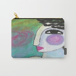 Funky Abstract Portrait of a Woman Carry-All Pouch
