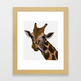 la jirafa Framed Art Print