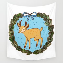 Baby deer Wall Tapestry