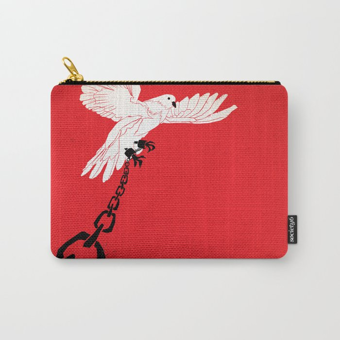 "Glue Network Print Series ""Justice & Freedom"" Carry-All Pouch"