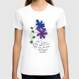 Flower happiness T-shirt