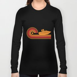 Retro Style Boating Vintage Boat Long Sleeve T-shirt