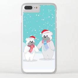 Polar bears Clear iPhone Case