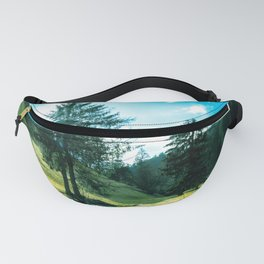 Green fields, trees and a magical brook Fanny Pack