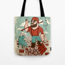 Paul Bunyan & Babe Tote Bag