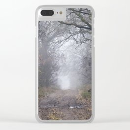 dirt and traces of car Clear iPhone Case