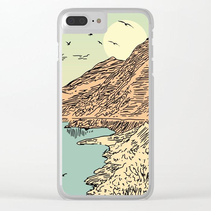 Mountain, Train & Lake Clear iPhone Case