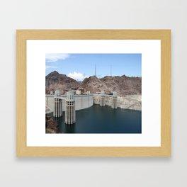 Hoover Dam And Lake Mead Framed Art Print