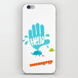 Hello Whale!! iPhone Skin