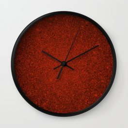 Agate Red Sparkling Jewels Pattern Wall Clock