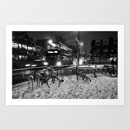 Turpike Lane Snow Day Art Print
